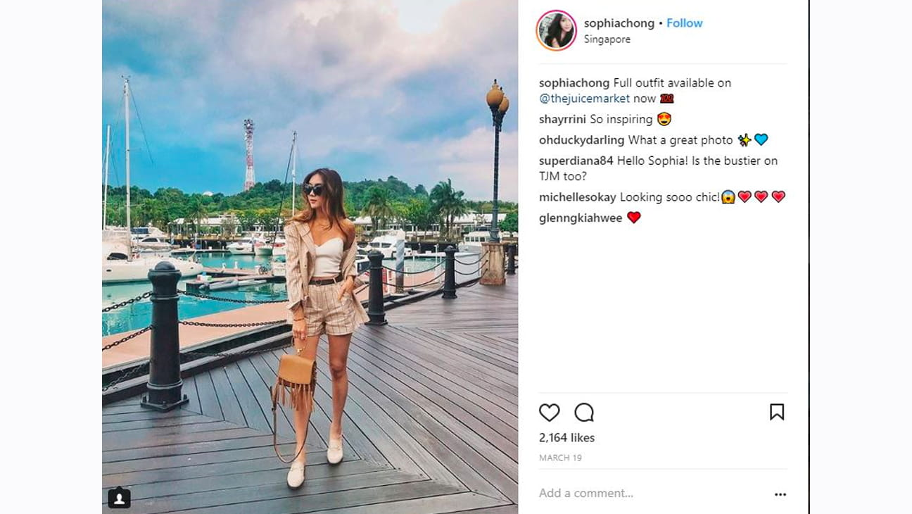 Instagram post at Quayside Island at Sentosa Cove