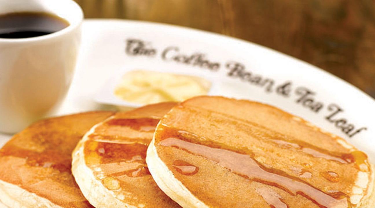 Coffeebean and tea leaf buttermilk pancakes