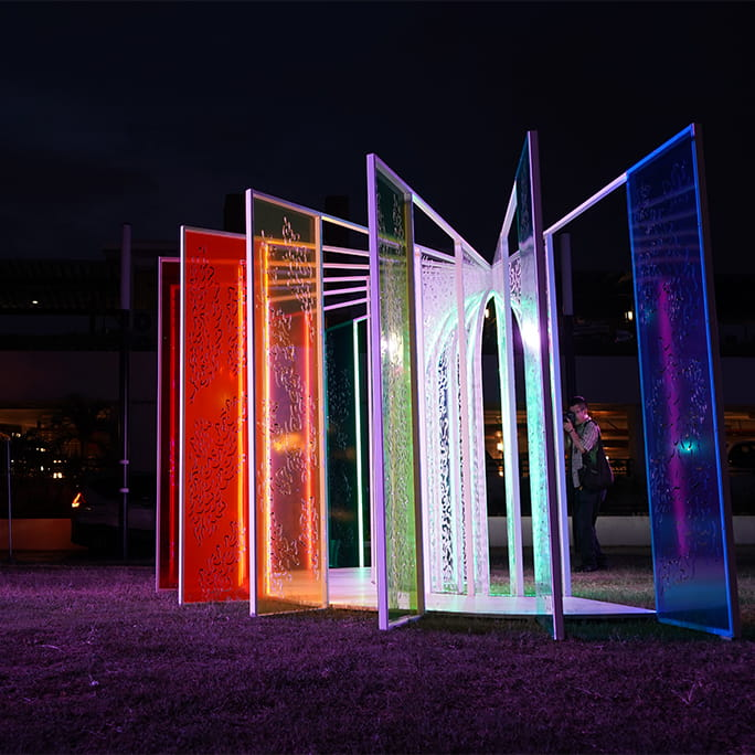 island lights installation